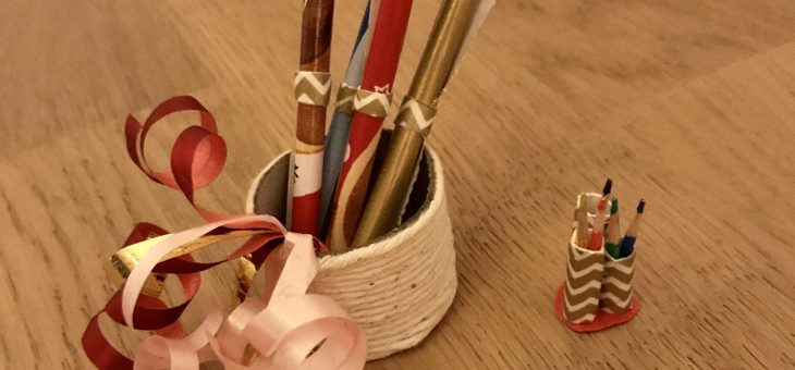 Nissedør – gavepapir og blyanter diy